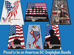 Proud to be an American SC (Single Crochet) Bundle Graphghan Crochet Patterns  - PDF Download