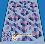 Puzzled Mind SC (Single Crochet) Throw Sized Blanket Graphghan Crochet Pattern - PDF Download