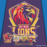 Quidditch Team - Gryffindor Lions SC (Single Crochet) Throw Blanket Graphghan Crochet Pattern - PDF Download