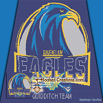 Quidditch Team - Ravenclaw Eagles SC (Single Crochet) Throw Blanket Graphghan Crochet Pattern - PDF Download