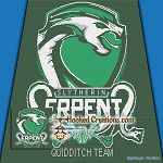 Quidditch Team - Slytherin Serpents SC (Single Crochet) Throw Blanket Graphghan Crochet Pattern - PDF Download