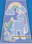 Rainbow Unicorn SC (Single Crochet) Twin Blanket Graphghan Crochet Pattern - PDF Download
