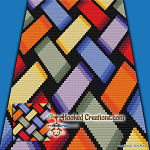 Rainbow Weaved C2C (Corner to Corner) Throw Blanket Graphghan Crochet Pattern - PDF Download