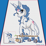 Rare Unicorn SC (Single Crochet) Throw Sized Blanket Graphghan Crochet Pattern - PDF Download