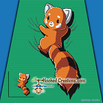 Red Panda SC (Single Crochet) Throw Blanket Graphghan Crochet Pattern - PDF Download
