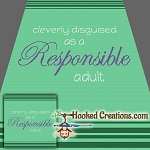 Responsible Adult SC (Single Crochet) Throw Blanket Graphghan Crochet Pattern - PDF Download