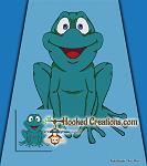 Ribbit SC (Single Crochet) Full Size Blanket Graphghan Crochet Pattern - PDF Download