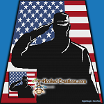 Salute to America SC (Single Crochet) Throw Blanket Graphghan Crochet Pattern - PDF Download
