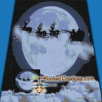 Santa Moon Flight TSS (Tunisian Simple Stitch) Right Handed Throw Sized Blanket Graphghan Crochet Pattern - PDF Download
