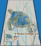 Sea Turtle TSS (Tunisian Simple Stitch)-Right Handed Full Size Blanket Graphghan Crochet Pattern - PDF Download