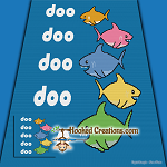 Shark Family SC (Single Crochet) Throw Blanket Graphghan Crochet Pattern - PDF Download