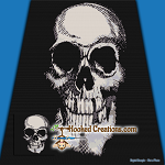 Skull SC (Single Crochet) Throw Blanket Graphghan Crochet Pattern - PDF Download