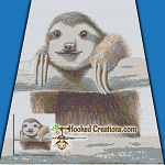 Sloth SC (Single Crochet) Throw Blanket Graphghan Crochet Pattern - PDF Download
