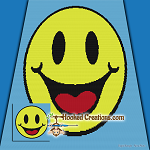 Smile SC (Single Crochet) Throw Blanket Graphghan Crochet Pattern - PDF Download