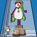 Snowy Man SC (Single Crochet) Throw Blanket Graphghan Crochet Pattern - PDF Download