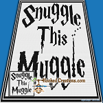 Snuggle this Muggle SC (Single Crochet) Baby Blanket Graphghan Crochet Pattern - PDF Download