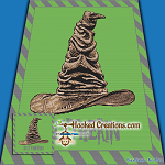 Sorting Hat - Slytherin SC (Single Crochet) Throw Blanket Graphghan Crochet Pattern - PDF Download