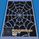 Spider Web Mini C2C (Modified Corner to Corner) Throw Sized Blanket Graphghan Crochet Pattern - PDF Download