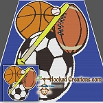 Sports Fan SC (Single Crochet) Throw Size Blanket Graphghan Crochet Pattern - PDF Download