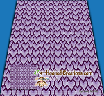 Stacked Hearts C2C (Corner to Corner) King Blanket Graphghan Crochet Pattern - PDF Download