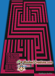 Stairway to Nowhere C2C (Corner to Corner) Twin Sized Blanket Graphghan Crochet Pattern - PDF Download