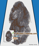 Standard Poodle SC (Single Crochet) Throw Blanket Graphghan Crochet Pattern - PDF Download
