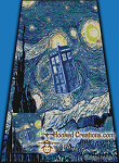 Starry Night Police Box SC (Single Crochet) Twin Blanket Graphghan Crochet Pattern - PDF Download