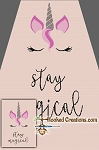 Stay Magical SC (Single Crochet) Twin Blanket Graphghan Crochet Pattern - PDF Download