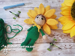 Sunflower Girl Crochet Pattern - Amigurumi - PDF Download