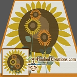 Sunny Day Sunflowers SC (Single Crochet) Throw Blanket Graphghan Crochet Pattern - PDF Download