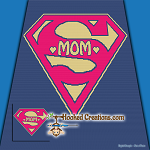 Super Mom SC (Single Crochet) Throw Size Blanket Graphghan Crochet Pattern - PDF Download