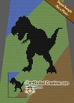 T-Rex C2C (Corner to Corner) Twin Sized Graphghan Crochet Pattern - PDF Download