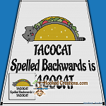 TACOCAT SC (Single Crochet) Throw Blanket Graphghan Crochet Pattern - PDF Download