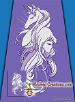The Last Unicorn SC (Single Crochet) Twin Sized Blanket Graphghan Crochet Pattern - PDF Download