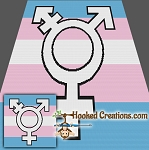 Trans Pride SC (Single Crochet) Throw Blanket Graphghan Crochet Pattern