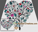 Tree of Love SC (Single Crochet) Throw Sized Blanket Crochet Pattern