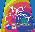 Tribal Butterfly Spiral SC (Single Crochet) Throw Blanket Graphghan Crochet Pattern - PDF Download