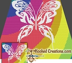 Tribal Butterfly Mini C2C (Modified Corner to Corner) Throw Blanket Graphghan Crochet Pattern