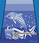 Tribal Dolphin C2C (Corner to Corner) Queen Sized Graphghan Crochet Pattern - PDF Download