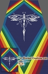 Tribal Dragonfly SC (Single Crochet) Twin Sized Blanket Graphghan Crochet Pattern