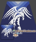 Tribal Eagle Mini C2C (Modified Corner to Corner) Throw Sized Blanket Graphghan Crochet Pattern - PDF Download