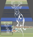 Tribal Elk/Deer SC (Single Crochet) Throw Sized Blanket Graphghan Crochet Pattern - PDF Download