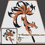 Tribal Fox Tails SC (Single Crochet) Throw Blanket Graphghan Crochet Pattern - PDF Download