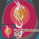 Tribal Humming Bird SC( Single Crochet) Throw Sized Blanket Graphghan Crochet Pattern