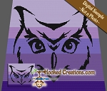 Tribal Owl SC (Single Crochet) Throw Sized Blanket Graphghan Crochet Pattern