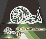 Tribal Snail SC (Single Crochet) Throw Sized Blanket Graphghan Crochet Pattern