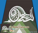 Tribal Snail SC (Single Crochet) Throw Sized Blanket Graphghan Crochet Pattern - PDF Download