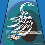 Tribal Swan SC (Single Crochet) Throw Sized Blanket Graphghan Crochet Pattern - PDF Download