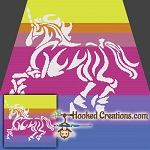 Tribal Unicorn SC (Single Crochet) Throw Blanket Graphghan Crochet Pattern - PDF Download