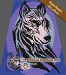 Tribal Wolf C2C (Corner to Corner) Queen Sized Blanket Graphghan Crochet Pattern